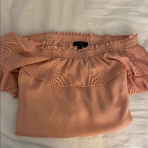 Jessica Simpson Tops - Jessica Simpson Off the Shoulder Coral Top